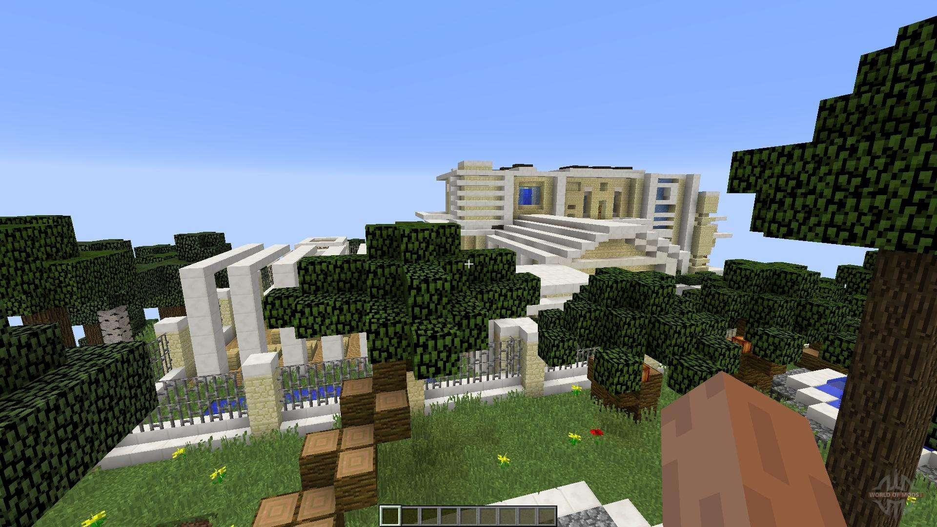Modern island mansion for minecraft - Minecraft modern ...