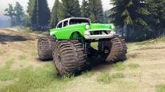 Chevrolet Bel Air 1955 Monster green for Spin Tires