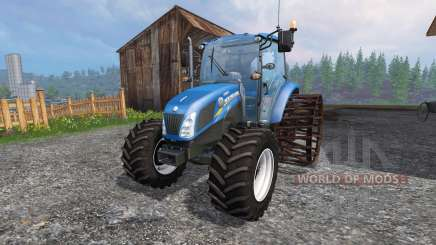 New Holland T4.75 v2.0 with steel wheels for Farming Simulator 2015