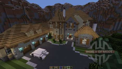 European Mountain Mansion for Minecraft