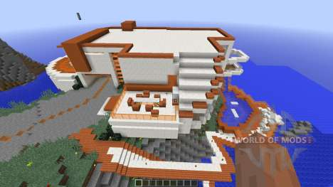 Modern Tony Stark Based Cliff-side Mansion for Minecraft