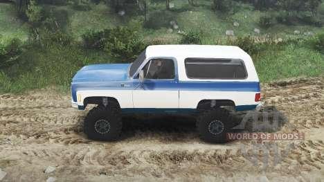 Chevrolet K5 Blazer 1975 [blue and white] for Spin Tires