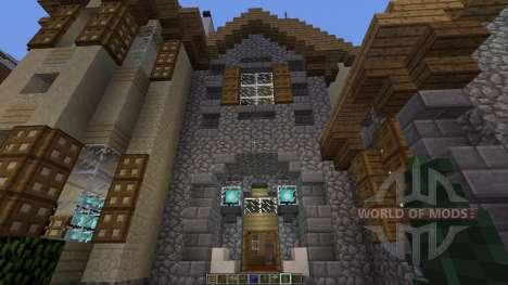 European Mountain Mansion for Minecraft