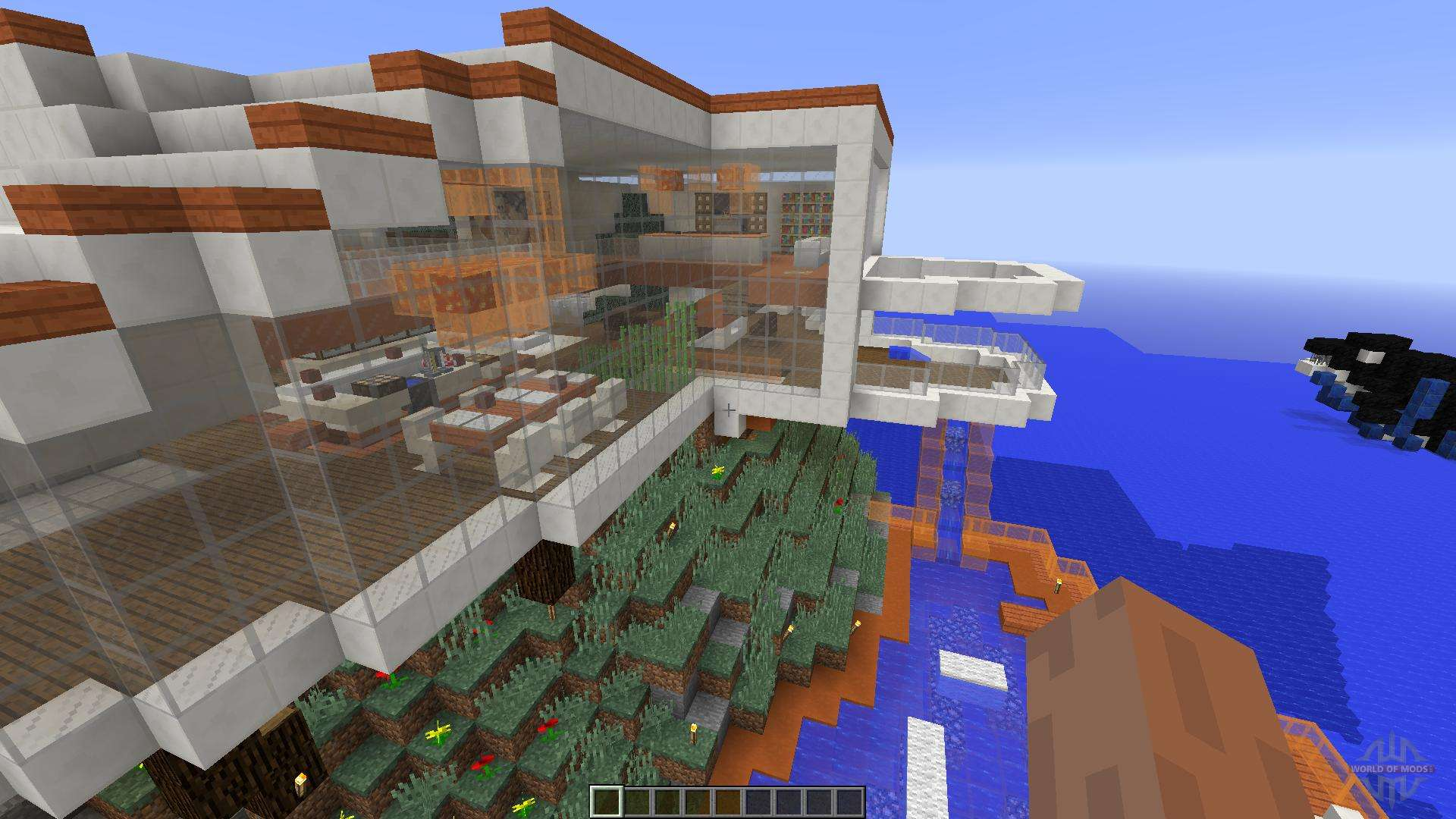 Modern Tony Stark Based Cliff Side Mansion For Minecraft