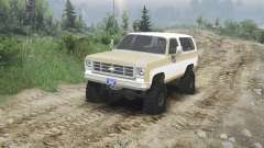 Chevrolet K5 Blazer 1975 [light saddle n white] for Spin Tires
