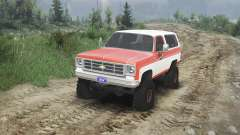 Chevrolet K5 Blazer 1975 [orange and white] for Spin Tires