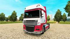 Kitty Logistik skin for DAF truck for Euro Truck Simulator 2