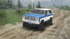 Chevrolet K5 Blazer 1975 [blue and white] for Spin Tires