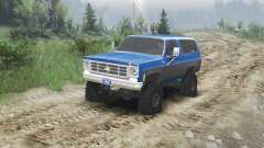 Chevrolet K5 Blazer 1975 [blue and black] for Spin Tires
