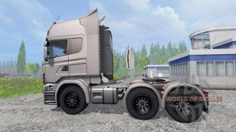 Scania R730 [Silver] v3.0 for Farming Simulator 2015