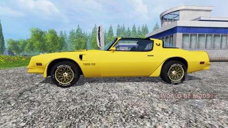 Pontiac Firebird Trans Am 1977 v1.2 for Farming Simulator 2015