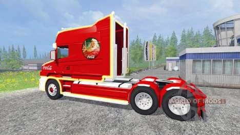 Scania T164 Coca-Cola Christmas for Farming Simulator 2015