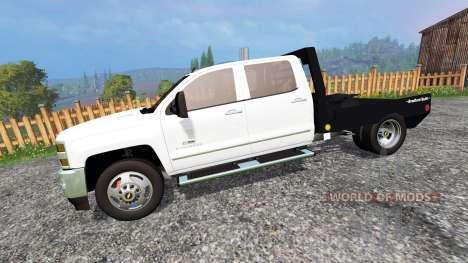 Chevrolet Silverado 3500 [flatbed] for Farming Simulator 2015