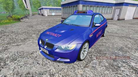 BMW M3 (E92) Notartzt v1.2 for Farming Simulator 2015