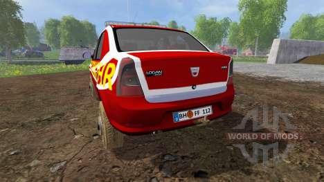 Dacia Logan [feuerwehr] for Farming Simulator 2015