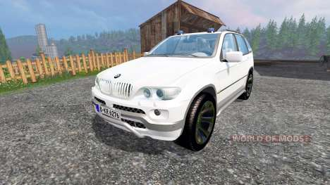 BMW X5 Unmarked Police for Farming Simulator 2015