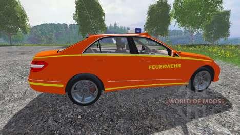 Mercedes-Benz E63 (W212) [feuerwehr] for Farming Simulator 2015
