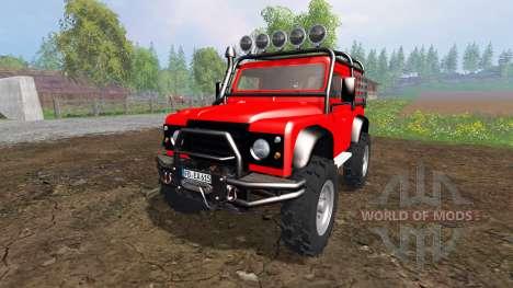 Land Rover Defender 90 [offroad] for Farming Simulator 2015