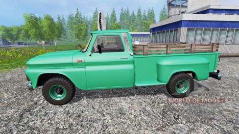 Chevrolet C10 Fleetside 1966 [custom] v1.1 for Farming Simulator 2015
