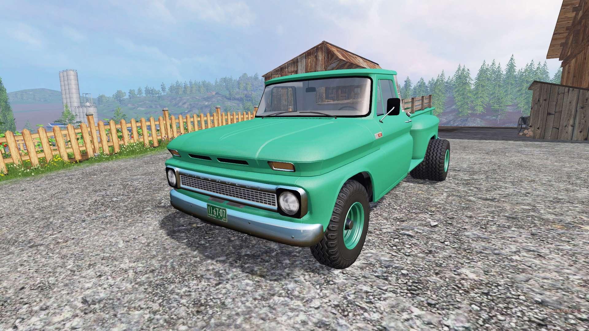 Chevrolet C10 Fleetside 1966 Custom For Farming Simulator 2015 Chevy