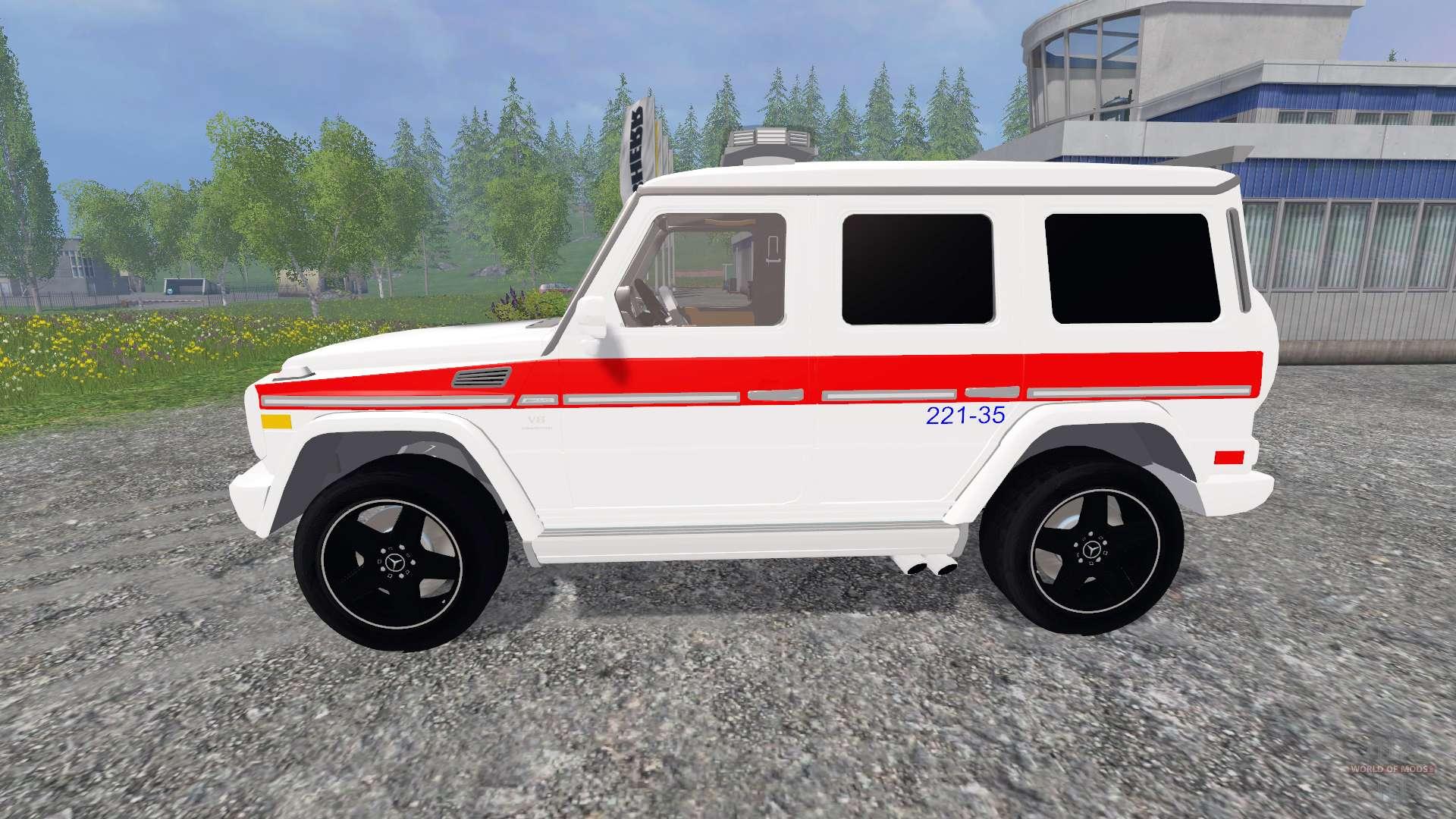 mercedes benz g65 amg ambulance for farming simulator 2015. Black Bedroom Furniture Sets. Home Design Ideas