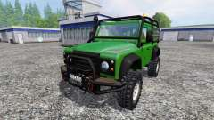 Land Rover Defender 90 [green] for Farming Simulator 2015