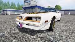Pontiac Firebird Trans Am 1977 v1.1 for Farming Simulator 2015
