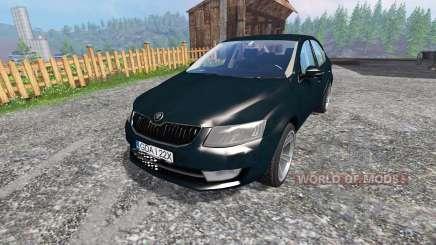 Skoda Octavia III v2.0 for Farming Simulator 2015