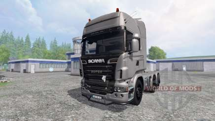 Scania R730 [Silver] v3.0 for Farming Simulator 2015