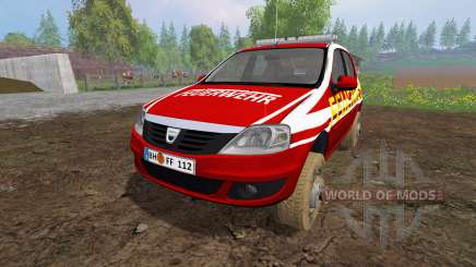 Dacia Logan [feuerwehr] for Farming Simulator 2015