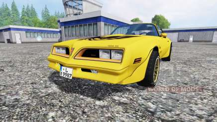 Pontiac Firebird Trans Am 1977 v1.2 for Farming Simulator 2015