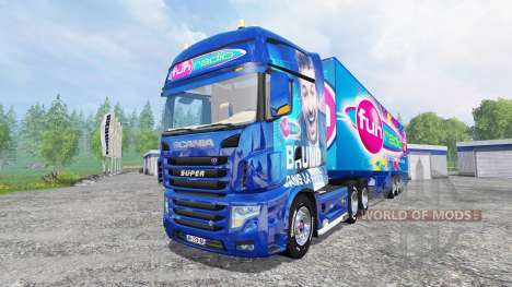 Scania R700 [Fun Radio] for Farming Simulator 2015