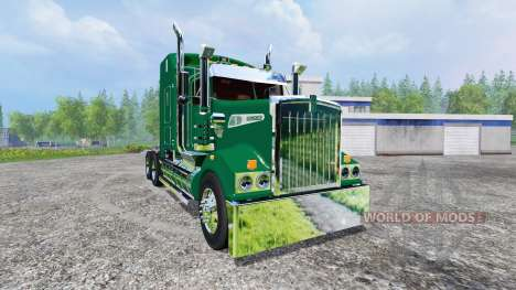Kenworth T908 [John Deere trailer] v2.0 for Farming Simulator 2015