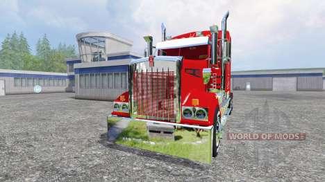 Kenworth T908 [Coca-Cola trailer] for Farming Simulator 2015