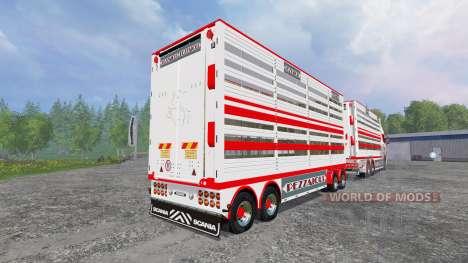 Scania R730 [cattle] v1.4 for Farming Simulator 2015