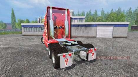 Kenworth T2000 [Coca-Cola Christmas] v1.1 for Farming Simulator 2015