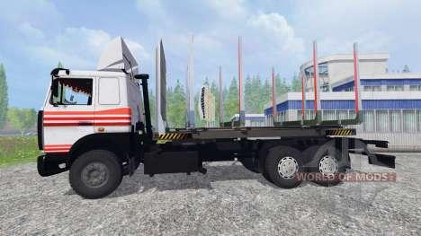 MAZ-6303 [timber] v4.0 for Farming Simulator 2015