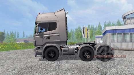 Scania R730 [Silver] v3.1 for Farming Simulator 2015