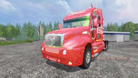 Kenworth T2000 [Coca-Cola Christmas] v1.1 for Farming Simulator 2015