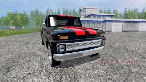 Chevrolet C10 Fleetside 1966 [tuning] v2.0 for Farming Simulator 2015