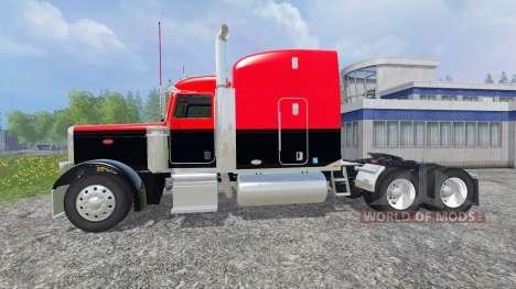 Peterbilt 388 [red and black] for Farming Simulator 2015