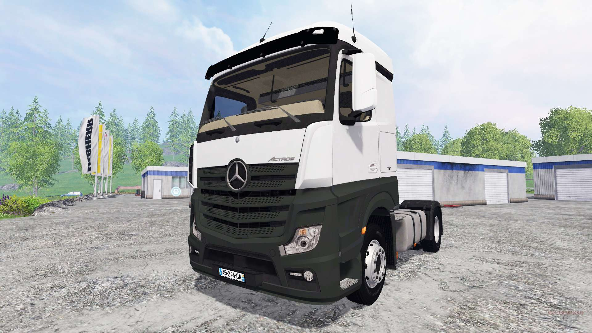 mercedes benz actros mp4 for farming simulator 2015. Black Bedroom Furniture Sets. Home Design Ideas