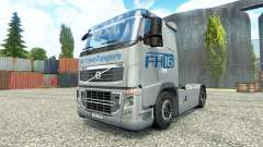 Hartmann Transporte skin for Volvo truck for Euro Truck Simulator 2