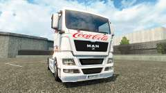 Skin Coca-Cola on the truck MAN for Euro Truck Simulator 2