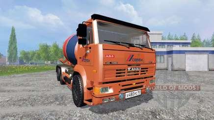 KamAZ-6520 [mixer] for Farming Simulator 2015
