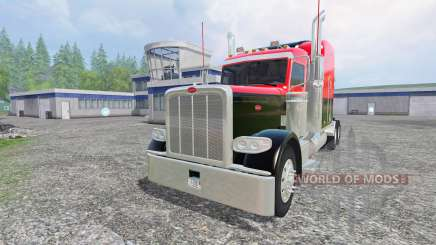 Peterbilt 388 [red and black] for Farming Simulator 2015