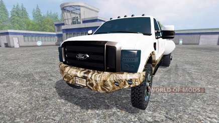 Ford F-250 [dually swamp camo] for Farming Simulator 2015