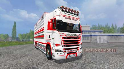 Scania R730 [cattle] v1.4 for Farming Simulator 2015