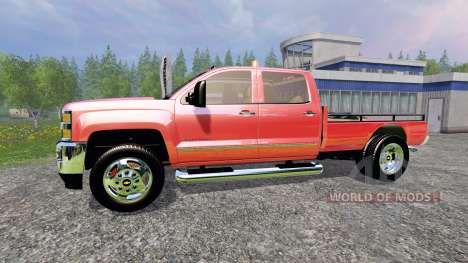 Chevrolet Silverado 3500 [flatbed] v3.0 for Farming Simulator 2015