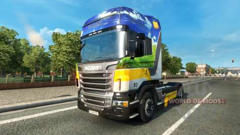 Gasunie Transport skin for Scania truck for Euro Truck Simulator 2